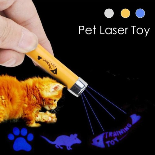Creative Funny Pet Toys LED Pointer light Pen With Bright Animation Mouse Shadow Cat