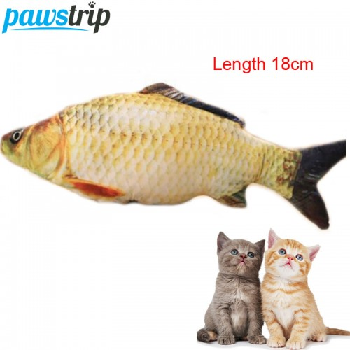 Funny Cat Toy Simulation Fish Cotton Padded Long Pet Dog Sound Toys