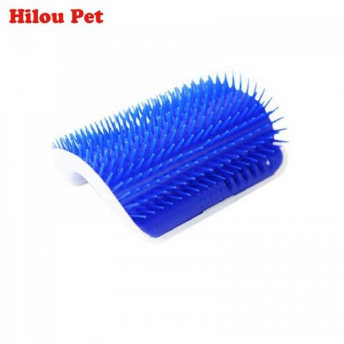 Pet Cat Brush Comb Play Toy Plastic Scratch Bristles Arch Self Groomer Massager Scratcher With Catnip