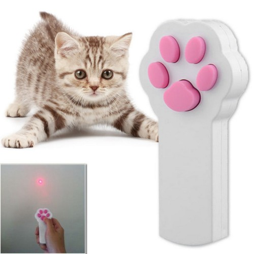 Pet Cat Dog Interactive Automatic Red Laser Pointer Exercise Toy
