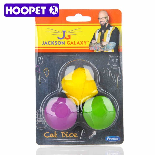 Pet Cat Toy Loaded Dice Soft Plastic Material Educational Toys Funny Cat Yellow