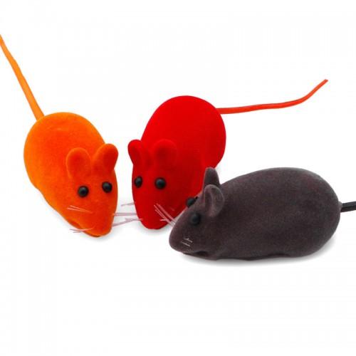 Pet supplies Cute Furry Mouse for Cat Toys Kitten Play False Mice Rat Toys Squeak