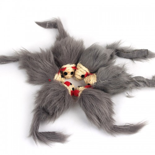 Soft Fleece False Mouse Cat Toys gray Feather Funny Playing Toys For Cats Kitten