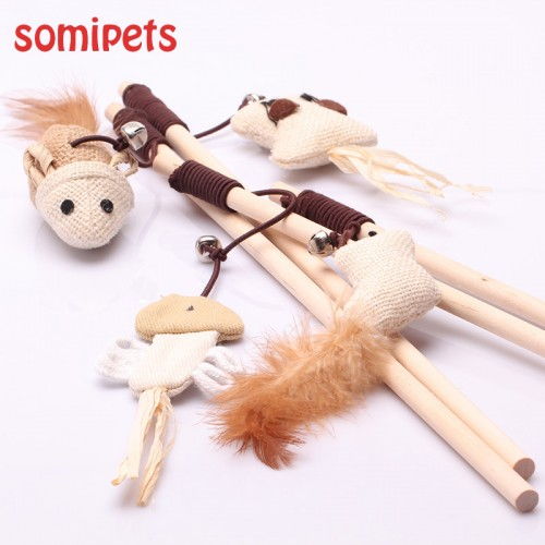 Toys interactive With Bells Elastic Rod Funny Cat Mouse Pumpkin