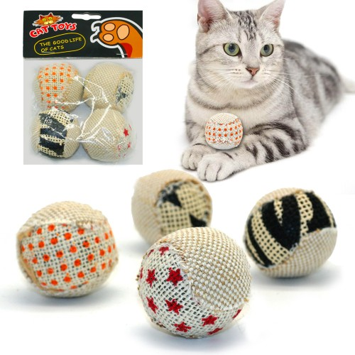 pack Ball Cat Toy Interactive Toys Play Chewing Rattle Scratch Catch Pet Kitten Cat