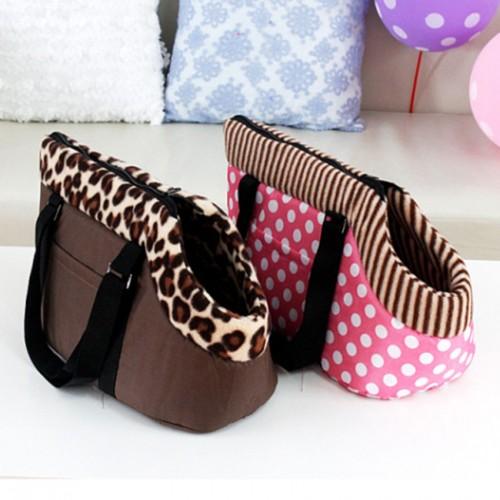 2017 Pet Bag Cat carrier Travel Carrying Bag Cats Leopard Print Small Bag Pink Polka Cat