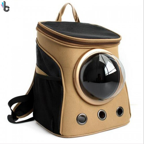 Canvas Space Capsule Pet Dog Carrier Backpacks Sport Travel Outdoor Pet Puppy Cat Bag