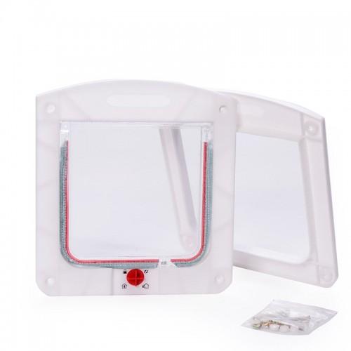 Durable Plastic Door Flap 4 Way Cat Dog Small Waterproof Pet Locking Door Flap Useful