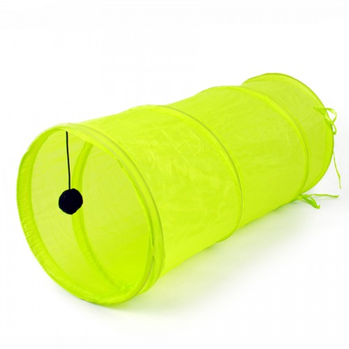 Free Shipping Pet Tunnel Classic Funny Cat Long Tunnel Kitten Play Toy Collapsible Bulk Cat Toys