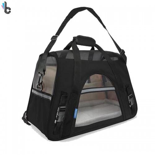 KARMASFAR Portable Cat Carrier Dog Breathable Backpack Pet Travel Bag Teddy Outdoor Shoulder Backpack With Sherpa