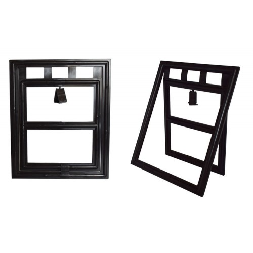 Plastic Black Dog Cat Kitty Door for Screen Window Gate for Home Pet Cottage cat crates