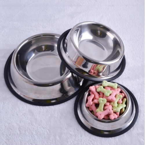 Stainless Steel Standard Pet Cat Food or Drink Water Bowl Dish