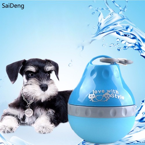 Drink Pet Dog Water Bottle Outdoor Travel Portable Foldable Spill proof Drinking Bowl Puppy