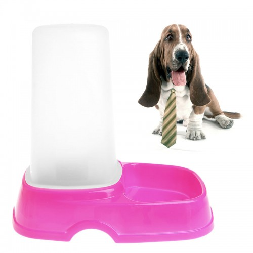 Pet Dog Puppy Automatic Food Water Feeder Fountain Bowl Dish Dispenser