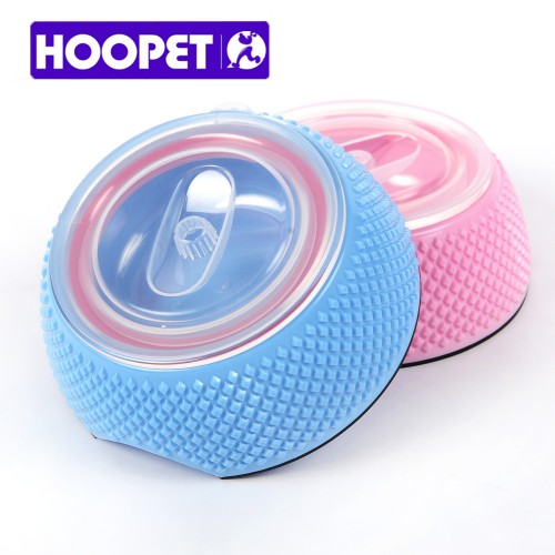 Pet products double deck covered colorful dog water food feeding bowl sturdy and durable bowl