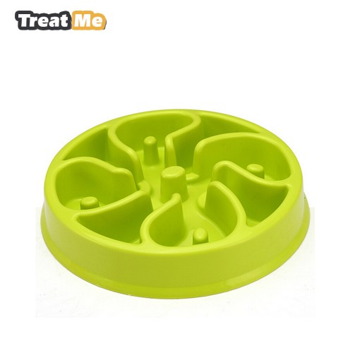 Treat Me Fashion Slow Feed Dog Bowl Anti Choking Healthy Pet Food Bowl To Prevent Obesity