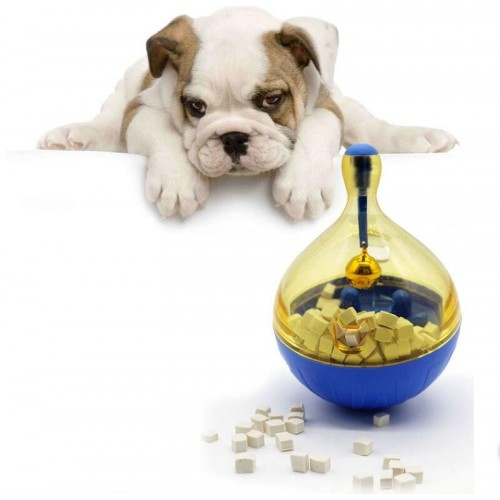 Tumbler Pet Dog Feeder Funny Toy Snack Holder Self Feeding Toy Puppy Game Bowl Hard