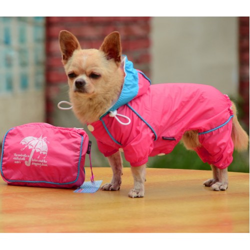 Pet Dog Rain Coat Waterproof Clothes Hoodie Jacket Jumpsuit Apparel Dog Clothes Raincoat For Small Dogs