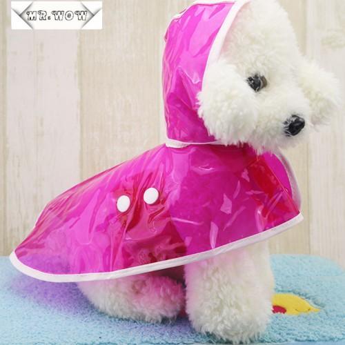 Pet Dog Raincoats Jacket Clothes Waterproof Cloak Puppy Raincoat Transparent