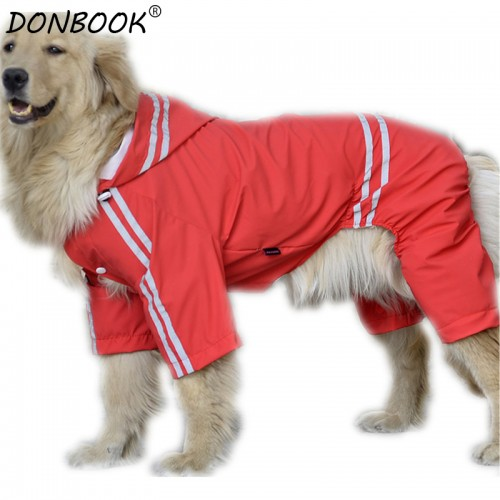 Waterproof Dog Raincoat Cool Clothes for Big Dogs Rainwear Jacket Costume Pets Apparel Sportswear