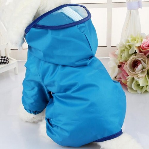 Waterproof Dog Rainwear Teddy rain coat pet clothes for small dogs Puppy jumpsuit Clothing