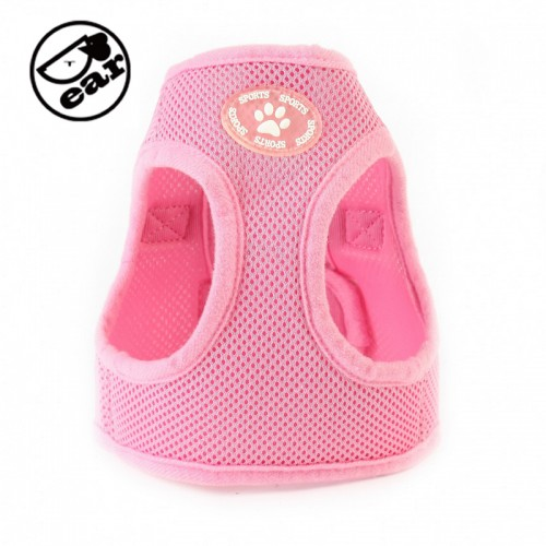 Adjustable Soft Nylon Mesh Small Dog Harness Vest Step in Breathable Pet Cat Belt Collar Leash