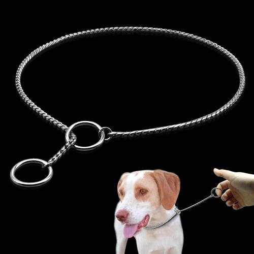 Dog Training Collars Snake P Slip Choke Collar Metal Chain For Dogs