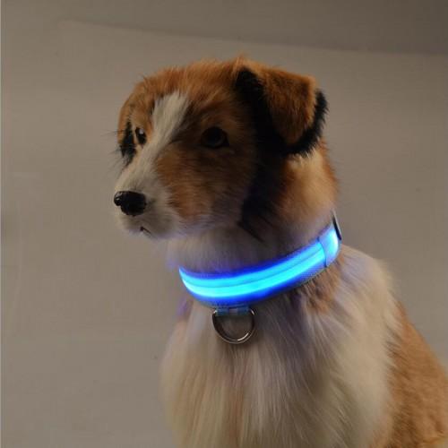 DogLemi Shiny Pet Dog Collars Puppy Leads Pet LED Light Collars Mascotas Cachorro Large Dogs
