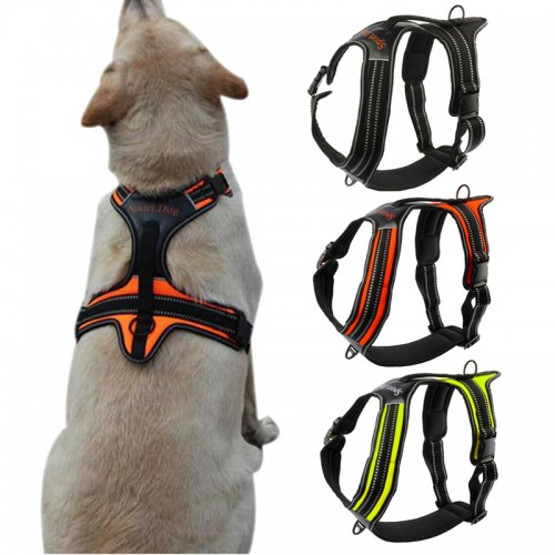 Nylon No Pull Dog Harness Reflective Outdoor Adventure Pet Vest with Handle For Medium Large Dog