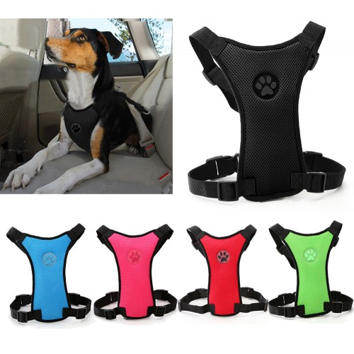 Soft Nylon Mesh Dog Seatbelt Car with Adjustable Straps Dog Walking Harness