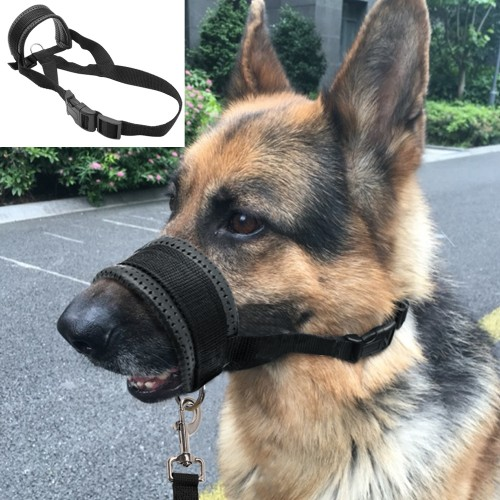 Soft Padded Pet Head Collar Champion Dog Training Halter Nylon Dog Muzzle Loop Stops Dog Pulling