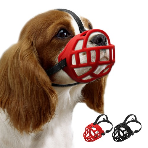 Soft Rubber Dog Training Muzzle Adjustable Straps Silicon Basket Anti Bite Pet Muzzles