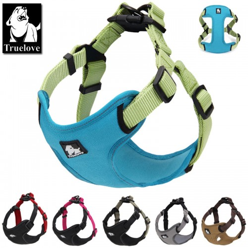 Truelove Padded reflective dog harness vest Pet Dog Step in Harness Adjustable No Pulling pet Harnesses