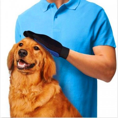 True Magic Touch Pet Deshedding Glove For Dogs Cleaning Brush Hair Massage Removal Grooming Groomer