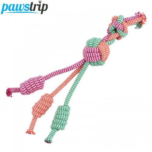 Cotton Braided Pet Dog Chew Toy Funny Training Puppy Dog Toys