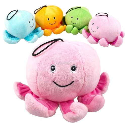 Cute Octopus Plush Dog Sound Squeaker Chew Toys Fit For Puppy