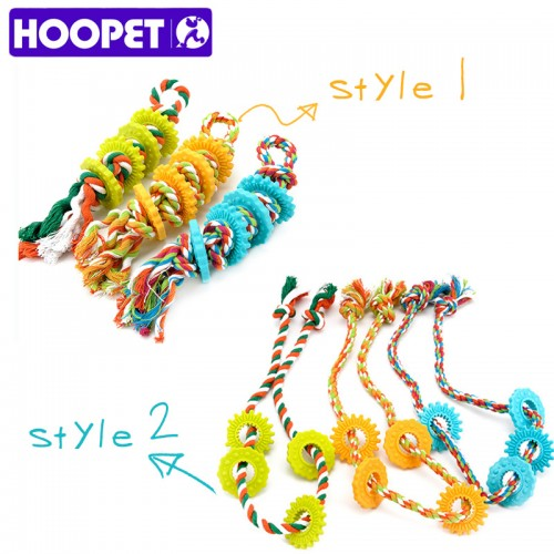 Dog Chew Toy Ropes Multicolor Pet Cotton Knotted Braided Bone Tug