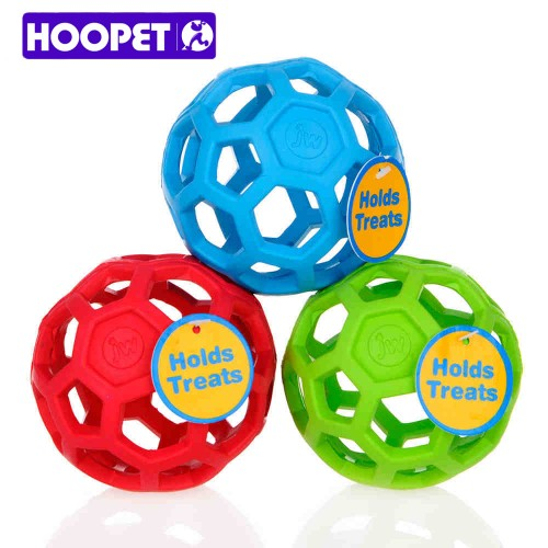 Drain Food Ball Dog Toy Natural Rubber Teddy Golden Dog Geometric Toy Ball