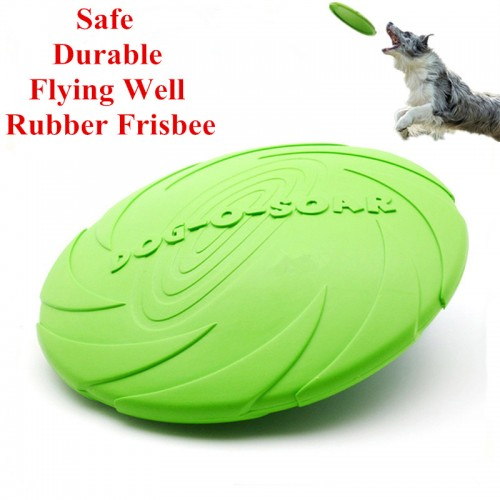 Eco friendly Pet Product Natural Rubber Material Pet Dog Toy Frisbee Dog Training