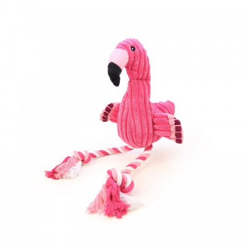 Flamingo Shape Dog Toy Squeaky Pet Puppies Chew Toy