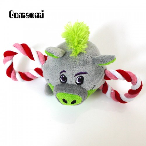 Gomaomi 24 13cm Animal Series Plush Pet Dog Toy with Rope 4 Choices