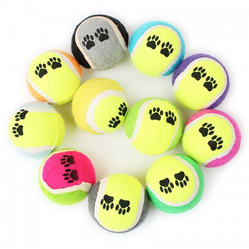 Multicolor Tennis Ball Pet Dog Toy Ball Outdoor Training Chewing Products