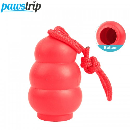 New Calabash Design Pet Dog Chew Toys Soft Rubber Dog Food Dispenser Toys