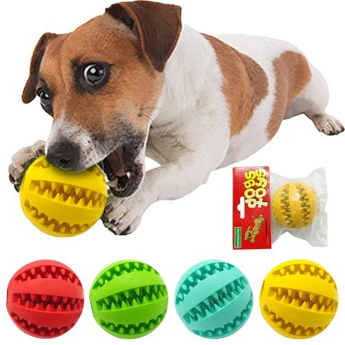 Nontoxic Rubber Pet Dog Tooth Cleaning Ball Toy Puppy Cat Training Interactive Chew Toys Bite Resistant