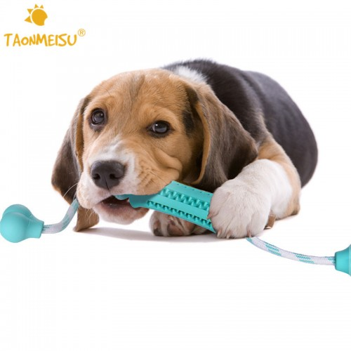 Pets Dog Toy Chew Toys Eco friendly Rubber Dental Massaging Toys Goods for Dog Training Food