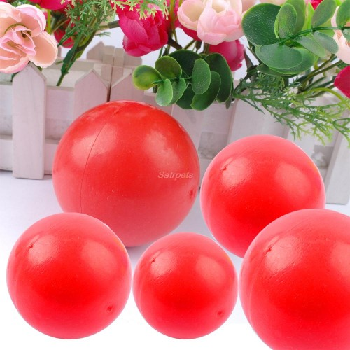 Red Smooth Indestructible Dog Chew Toy Solid Pet Ball Training Toys