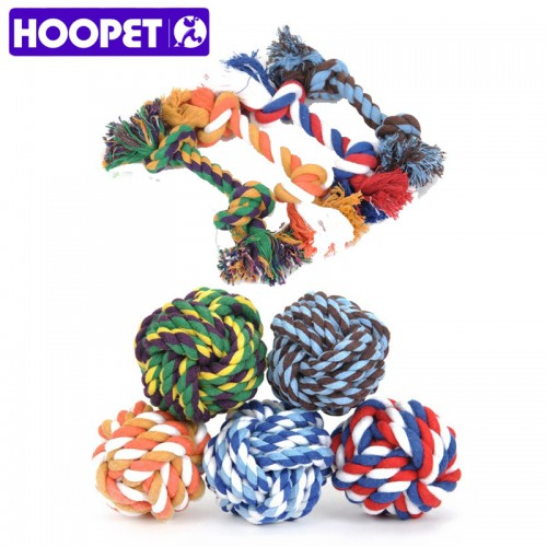 Rope Ball Toys Bite Ball Colorful Dog Interactive Toys Teeth Clean Wool Ball