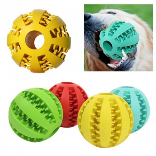 Rubber Watermelon Pattern Ball Funny Natural Non toxic Pet Dog Bite Resistant Teeth Cleaning Chew