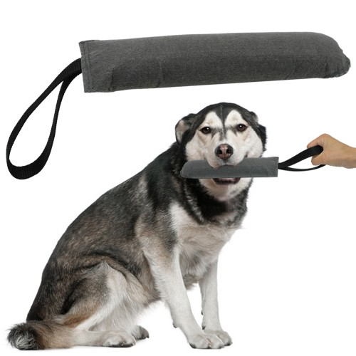 Soft Dog Tug Training Toys k9 Bite Toy With Handle For Police Canine Schutzhund