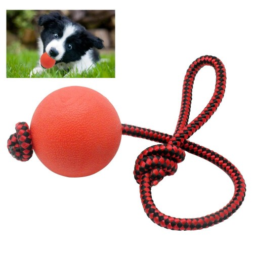 Solid Rubber Dog Chew Training Ball Toys Tooth Cleaning Chew Ball Puppy Pet Play Training Chewing